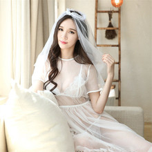 Porn Babydoll Bride Wedding Dress Erotic Lingerie For Women Sexy Lingerie Hot Erotic Underwear Sleepwear Role Play Sexy Costumes(China)