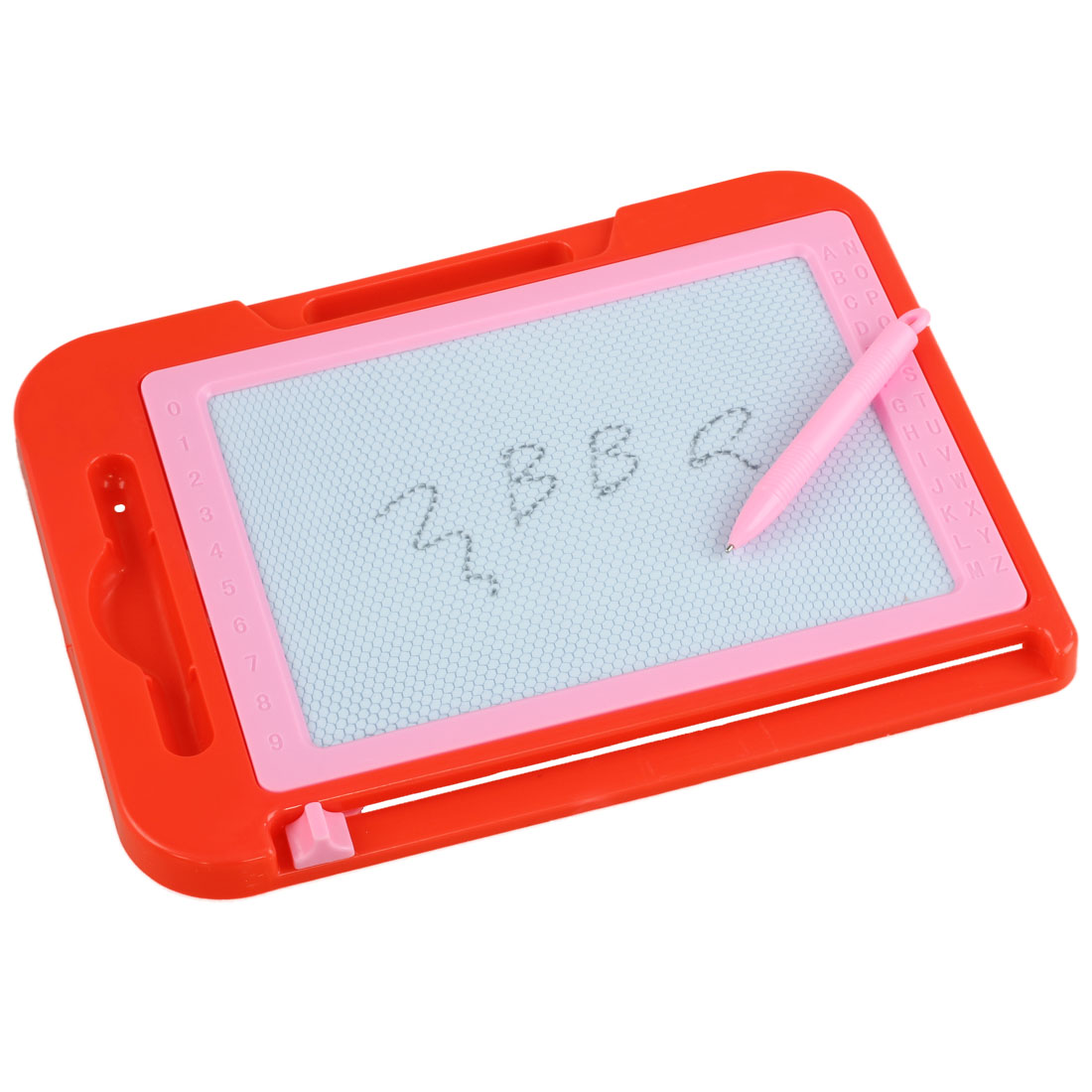 New Red Pink Plastic Frame Magnetic Writing Drawing Board