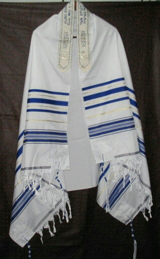 Jewish Tallit Talit Prayer Shawl & Talis Bag title=
