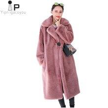 eb6fc4152 Otoño Invierno falsa chaqueta de piel de las mujeres abrigo de alta calidad  de moda más