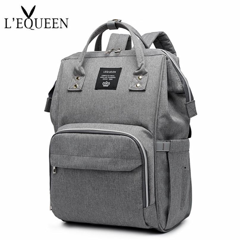 LEQUEEN Diaper Bag Baby Care for Daddy Mummy Nursing Bag Large Storage Travel Backpack Stroller Bag Nappy Bag bag