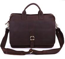 6020Q-2 100% Real Crazy Horse Leather Men's Briefcases Handbag Bag Laptop bag Hot Selling 2017 hot selling 100