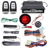 Dealcoo Hopping Code PKE Car Alarm System W Keyless Entry Remote Start Push Button Start COD Alarm for Cars Remote Car Security