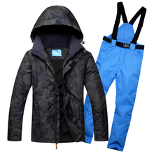 Ski Suit For Men Winter Waterproof Windproof Fashion Essential Tops And Pants Male