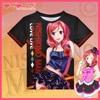 Japanese Anime Love Live! T-shirt Nishikino Maki Polyester T Shirt Lovelive Summer Active Fashion Men Women Clothes