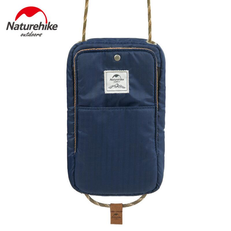 Naturehike Outdoor Travel Card Bag Mobile Phone Shoulder Bag Men Women Wallet Card Holder Coin Purse Lightweight 73g NH17X010-B