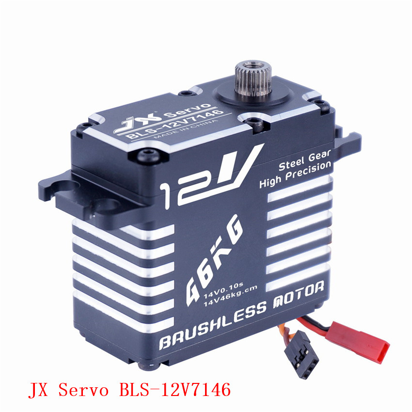 Original JX Servo BLS 12V7146 12V HV Steel Gear Full CNC Aluminium Shell Coreless Servo for helicopter waterproof-in Parts & Accessories from Toys & Hobbies    1