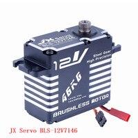 Original JX Servo BLS 12V7146 12V HV Steel Gear Full CNC Aluminium Shell Coreless Servo for helicopter waterproof