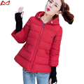 Women Short Jacket Winter Hooded Solid Padded 4 Colors Wadded Fashion Coat With Cotton Plus Size YL1393