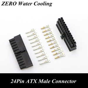 4.2mm 5557 CPU 24Pin ATX Male Connector with 25pcs Terminal pins for PC Modding(China)