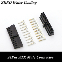 4.2mm 5557 CPU 24Pin ATX Male Connector with 25pcs Terminal pins for PC Modding