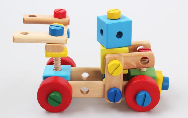 Educational Toys Age 2 : Free shipping childrens classic 70pcs multi purpose nut combination