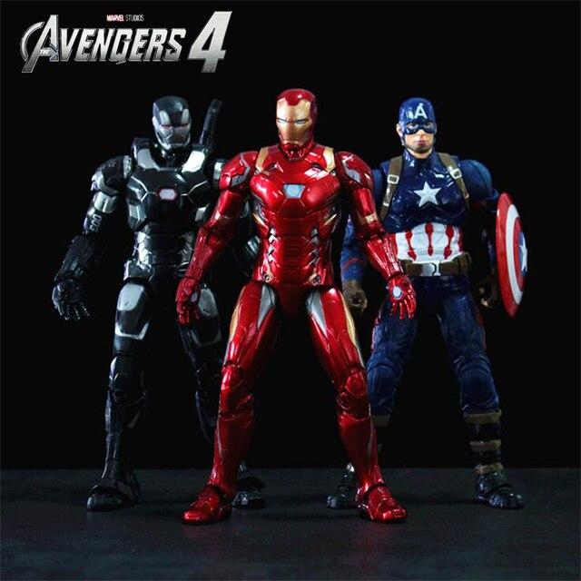 ENCAIXOTADO O 4 Vingadores: fim do jogo Super Heroes Figuras Brinquedos Thanos ron Man Capitão América Hulk Spiderman Thor Visão Soldado Inverno
