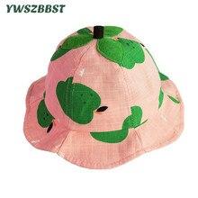 New Summer Baby Girls Hat Cotton Boys Sun Children Bucket Caps Autumn Cap Kids Fashion Sunscreen