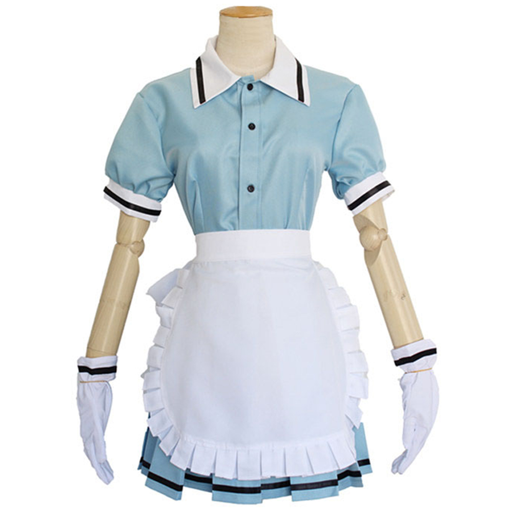 Brdwn Blend S Sakuranomiya Maika Hinata Kaho Hoshikawa Mafuyu Coffe cosplay costume apron dress Tops Skirt Apron Gloves