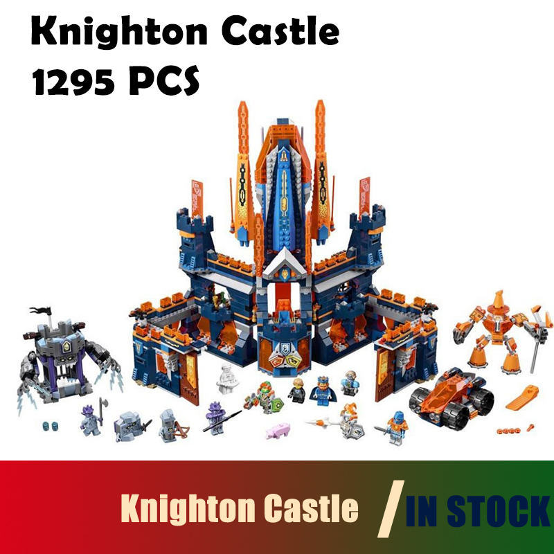 Compatible with lego WAZ 70357 nexoe knights 14037 1295pcs Knighton Castle Figure building blocks bricks toys for children lepin 14011 nexoe knights nfernox captures the queen model building kits aaron minifigures blocks bricks compatible with lego