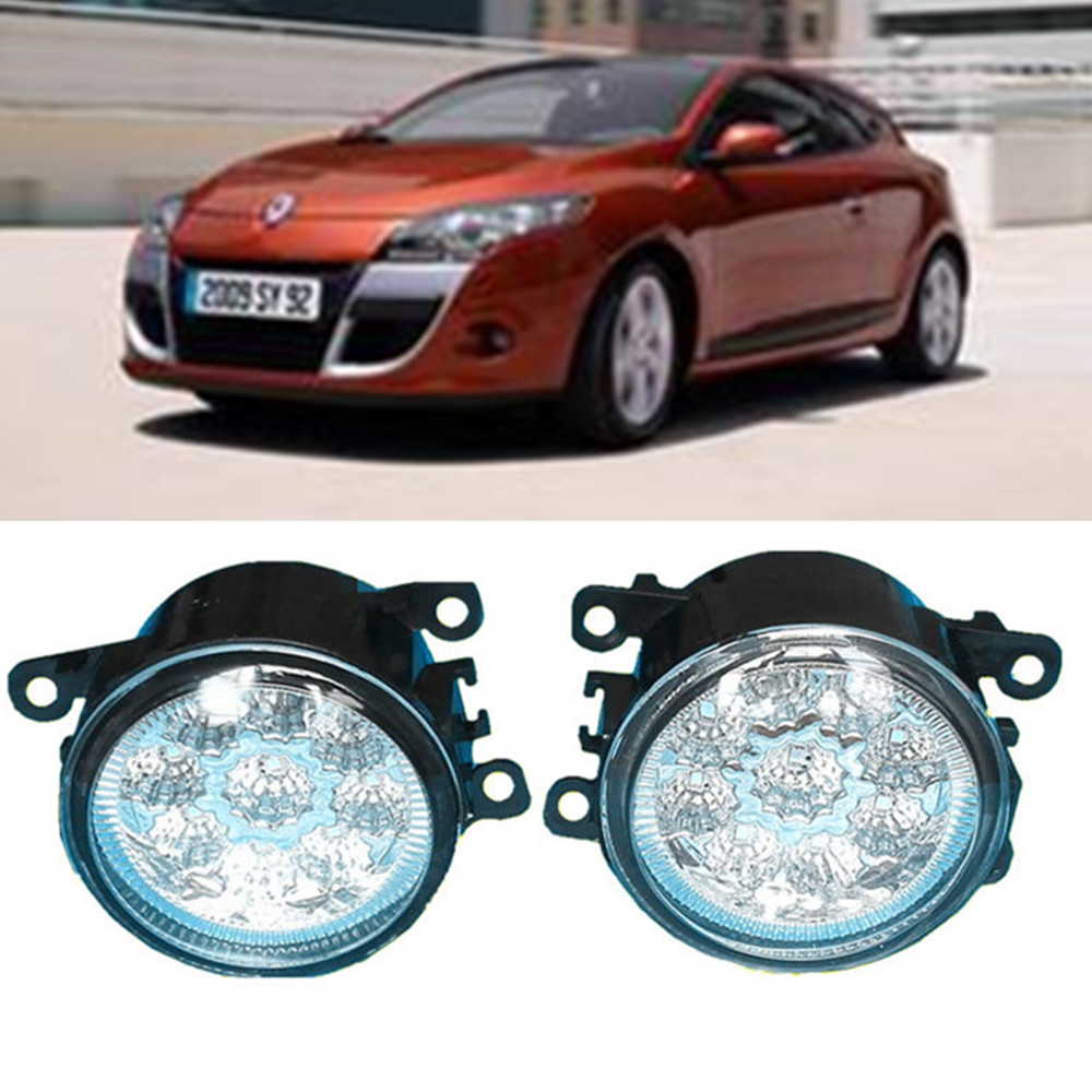 For RENAULT MEGANE 3 Coupe DZ0 DZ1  2008-2015 Car styling LED fog Lights high brightness fog lamps 1set renault megane coupe 1999