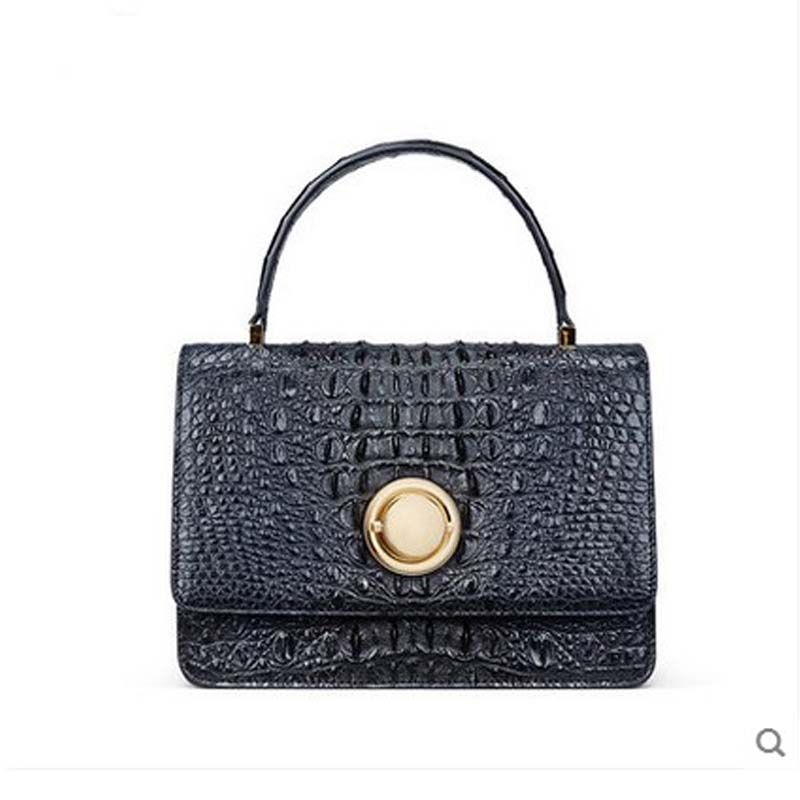 2018 gete New alligator skin women bag thailand real crocodille skin women handbag messenger bag handbag Lady small square bag