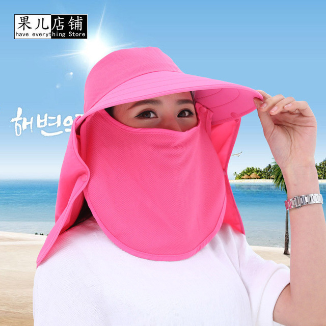 400d702867f71 Professional Outdoor Summer Sun Hats Protection Fishing Cap Women Men Neck  Face Sunscreen Flap Hat Fisherman Hat Sun Mask Cap