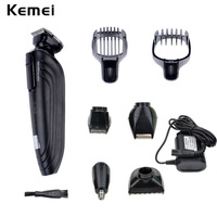 Kemei 5 In1 Rechargeable Waterproof Trimmer Hair Clipper Trimer Shaver Beard Nose For Men Family Use