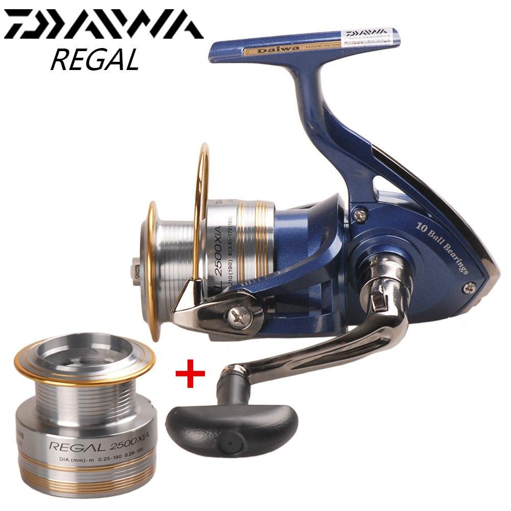 Origine DAIWA REGAL Spinning Reel Fishing 2000XIA 2500XIA 3000XIA 4000XIA Taille Avec Double Bobine 10BB 5.3: 1 Pesca Moulinet en