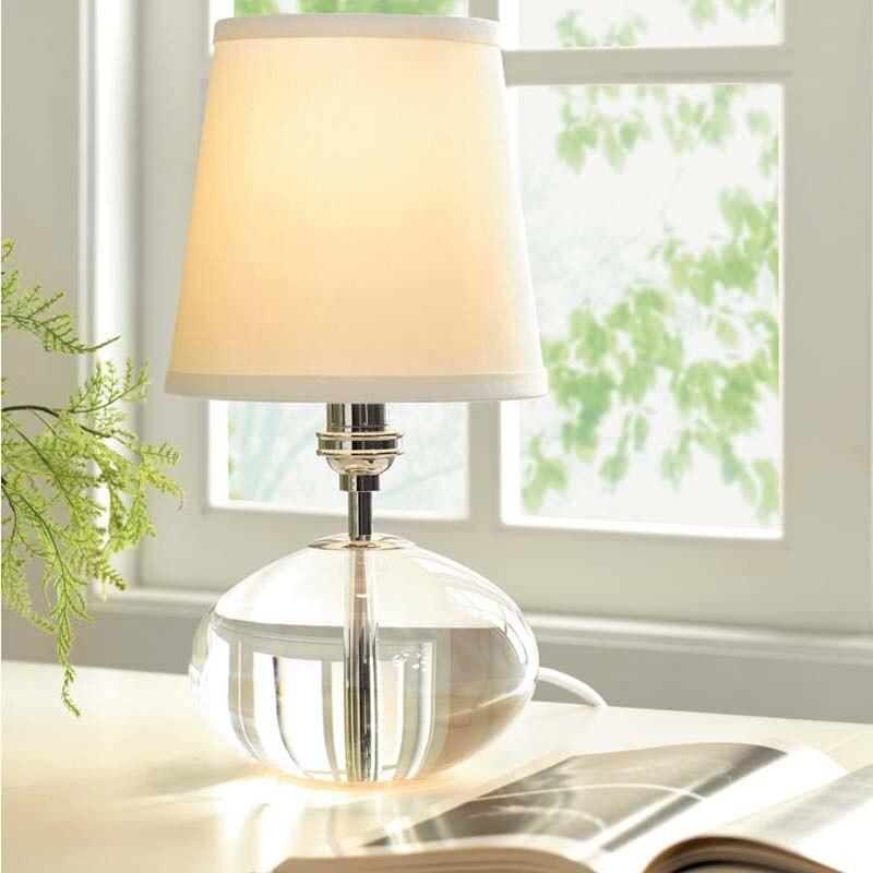 Кристалл Настольная лампа Американский дом Спальня исследование лампы