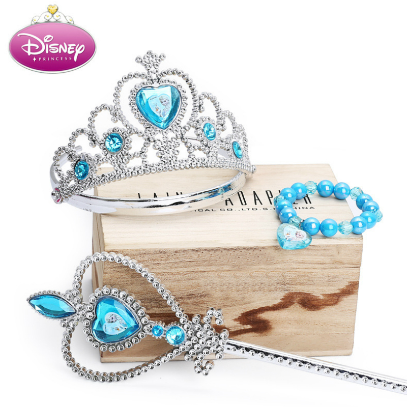 Disney Frozen Princess Elsa Anna Heart Crown Wand Earrings Ring Set For Girls Birthday Gift Disney Makeup Set