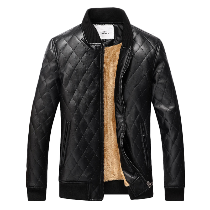 Winter Mens Leather Jacket Thick Velvet Jackets Coat Men PU Warm Leather Jacket Men Jaqueta Masculinas Inverno Couro Men Outwear