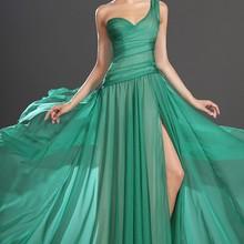 Новое Великолепное шифоновое вечернее платье с одним плечом