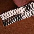 Высокое качество Серебра Нержавеющей стали ремешок для часов браслеты 22 мм 23 мм 24 мм 26 мм 28 мм большой размер ремешки для бренда часы мужчины заменить