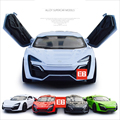 Горячая фильм Форсаж 7 1:36 Lykan Hypersport W двигатели diecast super sport cars модель Сплава toys с свет и музыка