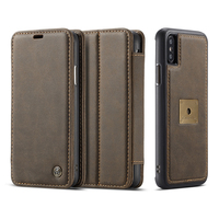 Luxury For Apple IPhone X Case Leather Flip Wallet Magnetic Detachable Stand Case For Apple IPhone
