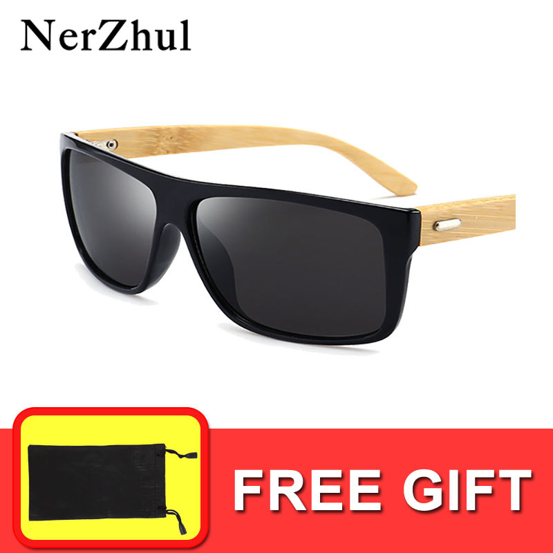 Men's Sunglasses Apparel Accessories Nerzhul Black Bamboo Square/driving Sunglasses Men/women Wood Mens Sunglasses Brand Designer Wooden Mirror Sunglasses Male Pure And Mild Flavor