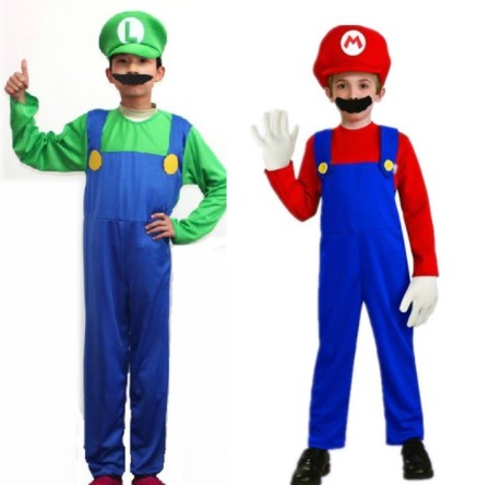halloween family matching outfits kids super mario brothers mario luigi cosplay costumes clothing set party costumes