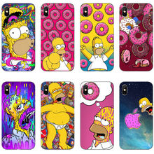 Funny Simpson eats apples to eat doughnuts logo Soft TPU Case For iPhone 11 Pro MAX 2019 SE 5S 6 7 8Plus MAX XR XS X Phone Cover clean eats