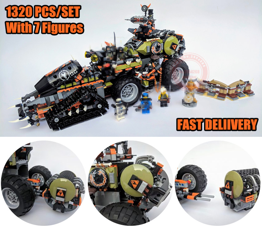 New Ninja Series fit legoings Ninjagoings Dieselnaut figures city 70654 Model Building Bricks Blocks boys Birthday Gifts Toys