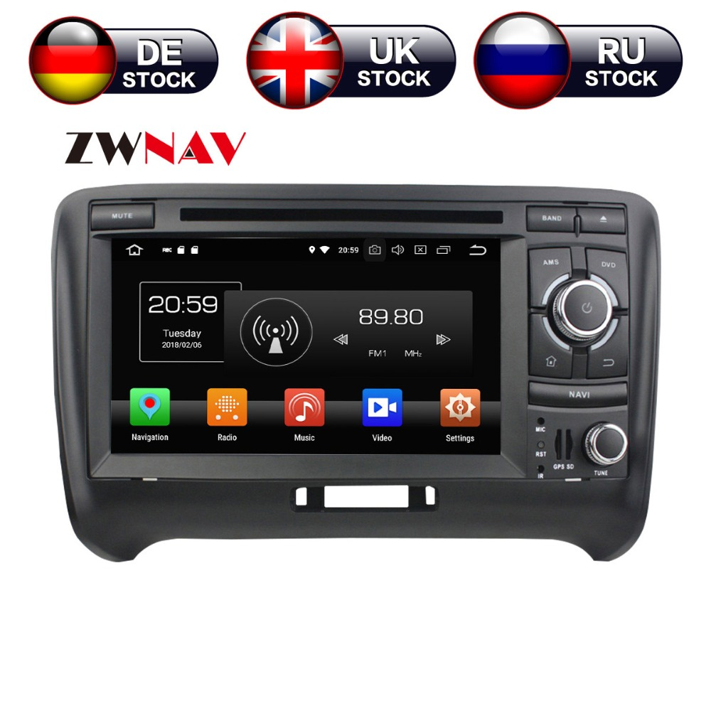 7 Inch Android 8 4+32G Car DVD Player GPS navigation For Audi TT 2006-2013 headunit multimedia player tape recorder цены