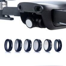 Filtros nd4 + nd8 + nd16 + nd32, 6 pçs/set filtros filtro de vidro óptico uv + cpl nd lente acessórios para drone dji mavic air