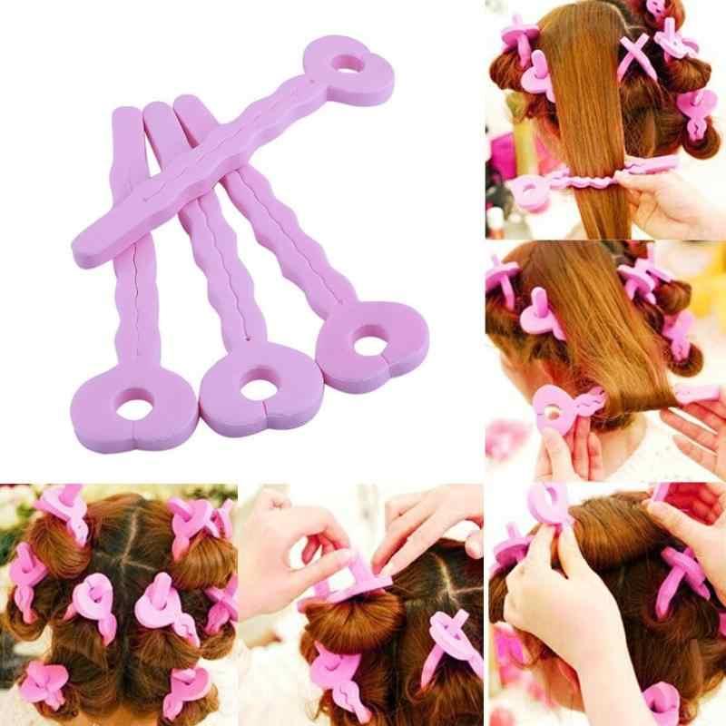 6 uds. Rodillos de pelo esponjosos, palillos para cabello, DIY, para hacer ondas de pelo rizado, barra de rizos de belleza durmiente, herramienta mágica para peluquería