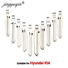 jingyuqin Key Blank For Hyundai Tucson Accent Getz Matri Sonata Santa fe Kia HYN14RFH KD Flip Key Blade 08 15 28 29 36 50 97 33#