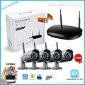 KIT NVR P2P WIF, 720 P 4ch NVR kit HD Sem Fio IR Ao Ar Livre Câmera de Visão noturna IP wifi Camera kit Home Security Sistema de Vigilância