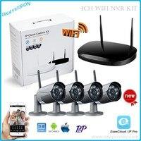 New 4CH Wireless 1 0MP Array Camera Kit 720P HDMI P2P ONVIF NVR WIFI IP Camera