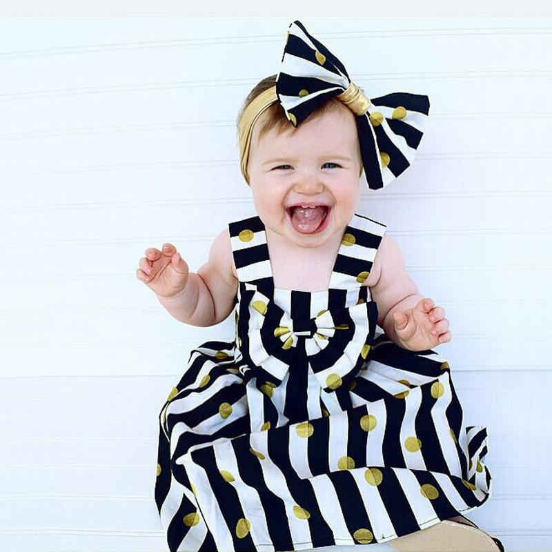 <font><b>Summer</b></font> Stripe <font><b>Baby</b></font> <font><b>Dress</b></font> Newborn <font><b>Baby</b></font> Girl Clothes <font><b>Dresses</b></font> Party Clothing <font><b>Dress</b></font> For <font><b>Baby</b></font> Girl 1 Year Birthday image