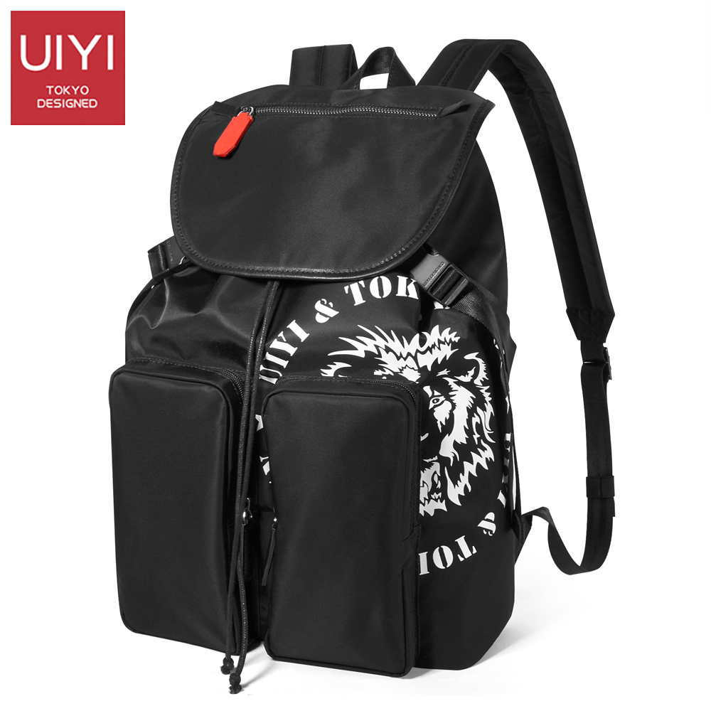 UIYI Nylon Backpack men's bag Men Travel Security Waterproof School Bags College Teenage Male 14inch Laptop Backpack #UYB7063 augur 2018 brand men backpack waterproof 15inch laptop back teenage college dayback larger capacity travel bag pack for male