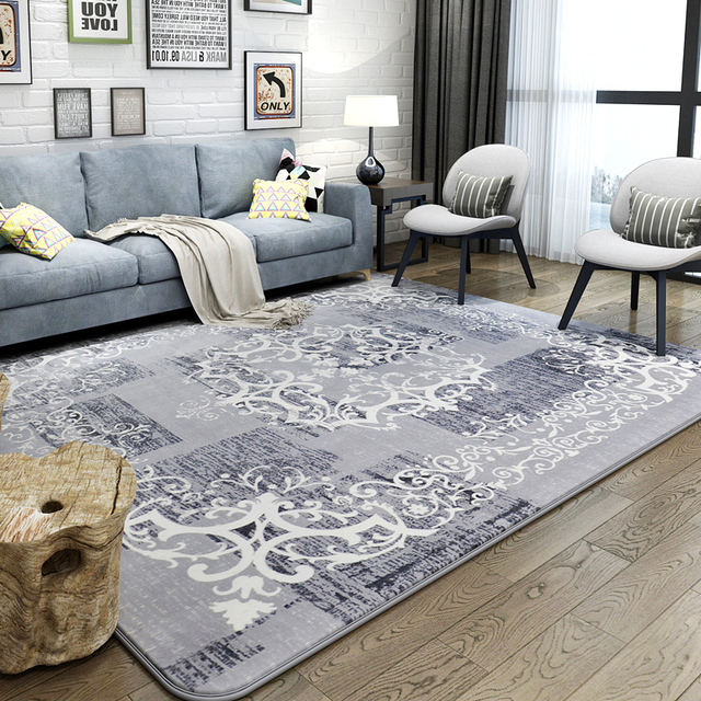 Pastoral Flannel Rugs And Carpets For Home Living Room Luxury