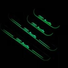 RQXR led движущиеся двери потертости для Audi Q7 динамический порог пластина плоский накладной поток/фиксированный свет, 4 шт
