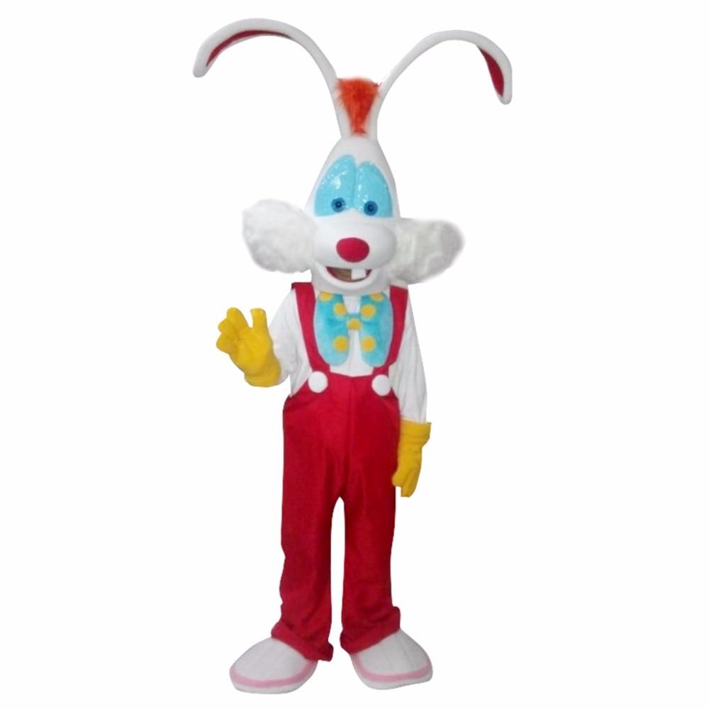 Custom Made CosplayDiy Unisex Mascot Costume Roger Rabbit Mascot Costume Cosplay For Christmas Party L0713
