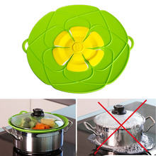 1PC Silicone Lid Boil Over Spill lid Stopper Pot /Pan Cover Cooking Pot Lids Utensil Flower Cookware Parts Kitchen Gadgets Tools