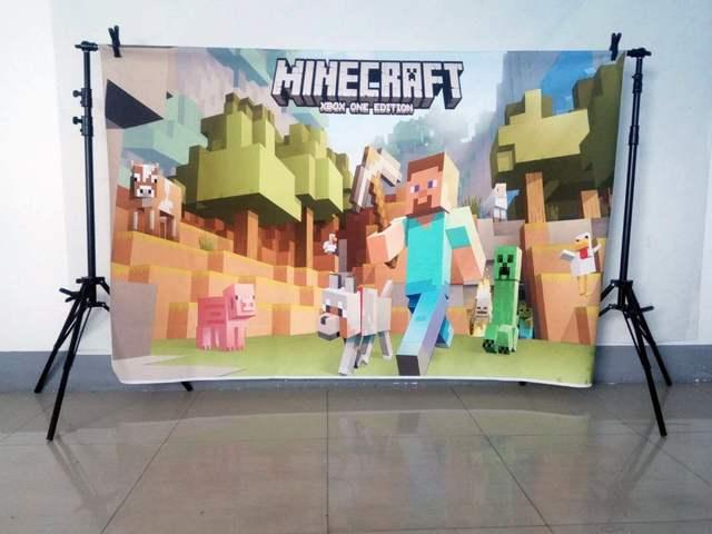Photography backdrops Cartoon Game Themed birthday party