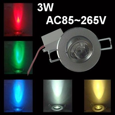 Image 3 - 10pcs/lot Dimmable AC85 265V 3W led ceiling LED downlight RGB led lamp ceiling downlight +24 Keys Remote control free shipping-in LED Spotlights from Lights & Lighting